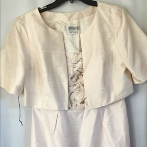 Blush Kay Unger Two Piece Dress Jacket Size 10.